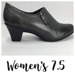 M Patrick Womens 7.5M Leather Ankle Boots